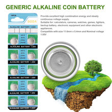 10pcs Alkaline Coin Cell Button Battery AG13 LR44 LR1154 SR44 A76 357A 303 357 For Watch Electronic Equipment(China)