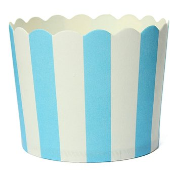 50 X Cupcake Wrapper Paper Cake Case Baking Cups Liner Muffin Dessert Baking Cup,Blue Striped Cake Molds