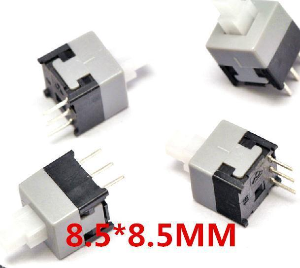 Active Components Integrated Circuits 1000pcs 7x7mm 3pin Push Tactile Power Micro Switch Self Lock On/off Button Latching Switch