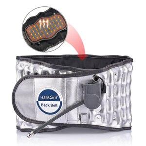 Image 2 - Yükseltilmiş versiyonu çekiş desteği bel kemeri sırt ağrısı için şişme çekiş ısı tedavisi sabit destek bel sarıcı kemer
