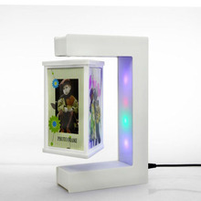 Magnetic Levitation Rotating Triangular Prism Picture Frame