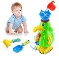 4 Pçs/lote Água Brinquedos de Natação Do Bebê Brinquedos de Banho de Praia Colher Rotativa Cilindro Jogo De Dragagem De Areia Ampulheta Pato Crianças Kid Brinquedos