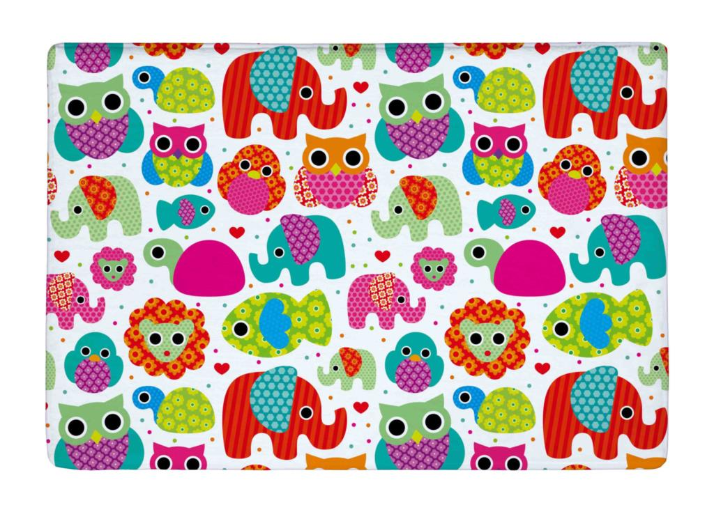 f06be41cb5376 Floor Mat Seamless Retro Elephant and owls animal Kids Print Non-slip Rugs  Carpets alfombra For Indoor Outdoor living room