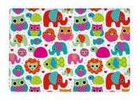 Floor Mat Seamless Retro Elephant and owls animal Kids Print Non-slip Rugs Carpets alfombra For Indoor Outdoor living room