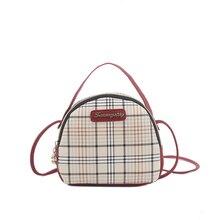 British Fashion Plaid Small Square Bag Simple Retro High Quality Shoulder Slung Handbag Summer New Casual Woman 2019