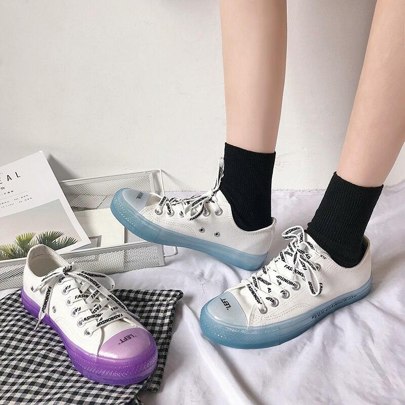 Chaussures 3 Chat Plat 1 Coréenne 4 Bonbons Version Sauvage La Femelle Toile Blanc Nouveau Ins D'été 2 Bottes Ulzzang Marée Couleur De 8gFHSqq