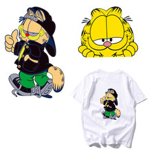 cartoon cat thermal iron on transfer patch badge heat for clothes t-shirt ironing stickers washable diy parches