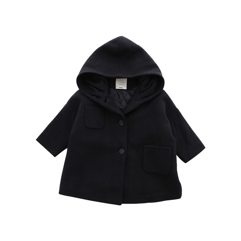 Children Clothing New Boys Girls Fashion Outerwear Blends Kids Winter Long Coat Baby Thickening Warm Blazer Wool Blends 2-10T
