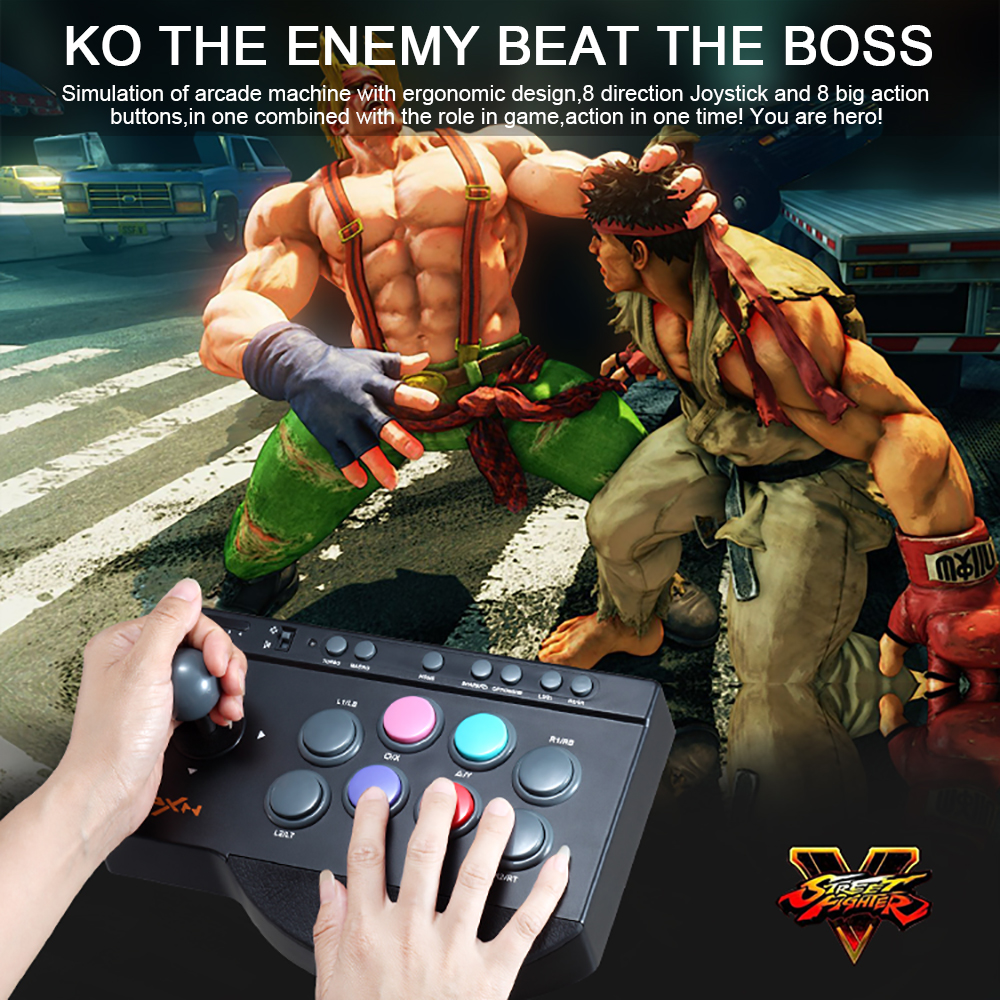 PXN-0082 arcade fightstick Game Joystick Gaming Controllers Game Rocker Gampad handle controller for PC/PS4/PS3/XBOX ONE PC pxn 2113 hot pc usb flight joysticks vibration joystick rocker flighter simulator game controller
