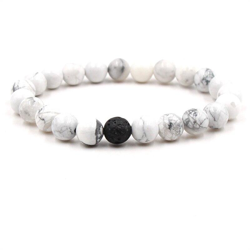 White Howlite Diffuser Bracelet