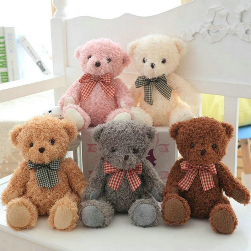 855403290ab 20cm New Coming Small Bear Plush Toys Birthday gift Children Teddy Bear  cloth doll Christmas present lovers bear wedding Gift