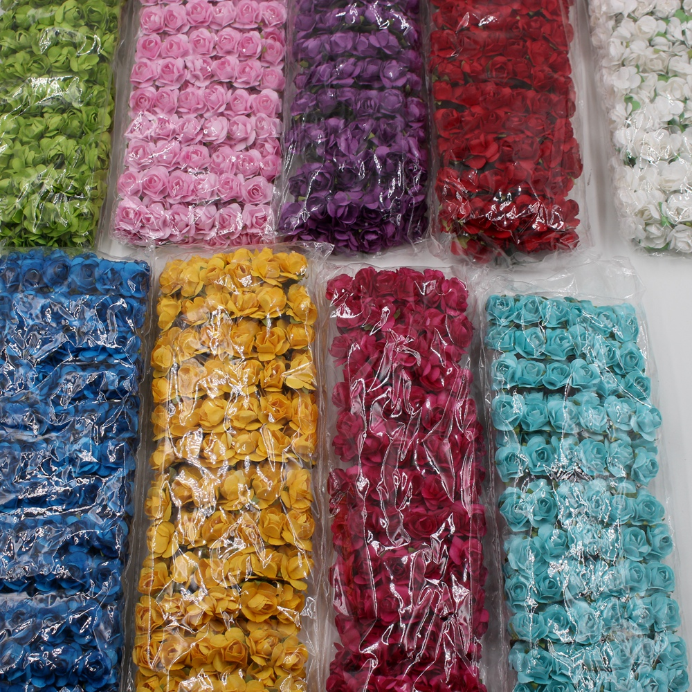 Online buy wholesale handmade paper flowers from china handmade 144pcs multicolor 15cm paper rose handmade artificial flowers for wedding home decoration diy box scrapbooking dhlflorist Image collections