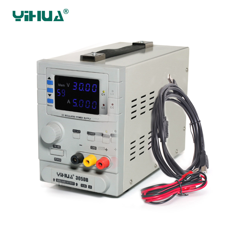 YIHUA 305DB laboratory power supply adjustable digital led switching power supply 0.01V 0.001A voltage regulator dc power supply икона янтарная богородица скоропослушница кян 2 305