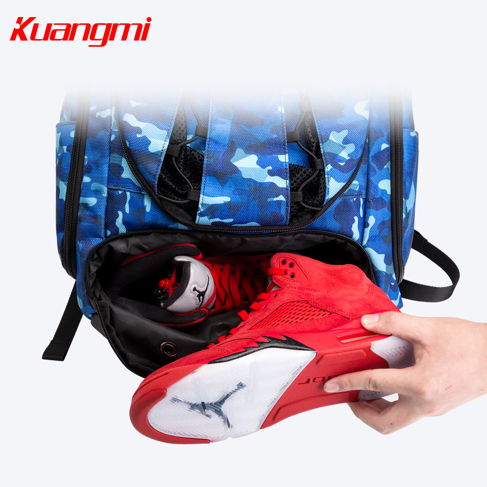 Купить с кэшбэком Kuangmi Basketball Football Bag 42 L 30 L Bags Training Backpack suit for man women and teenager