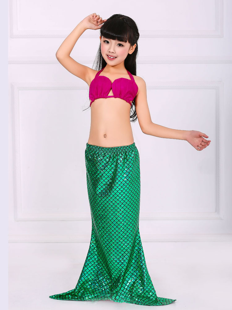 halloween outfits for 3 12y cute girl swimsuit toddler children lace cartoon beach dress little kids mermaid costume - Mermaid Halloween Costume For Kids