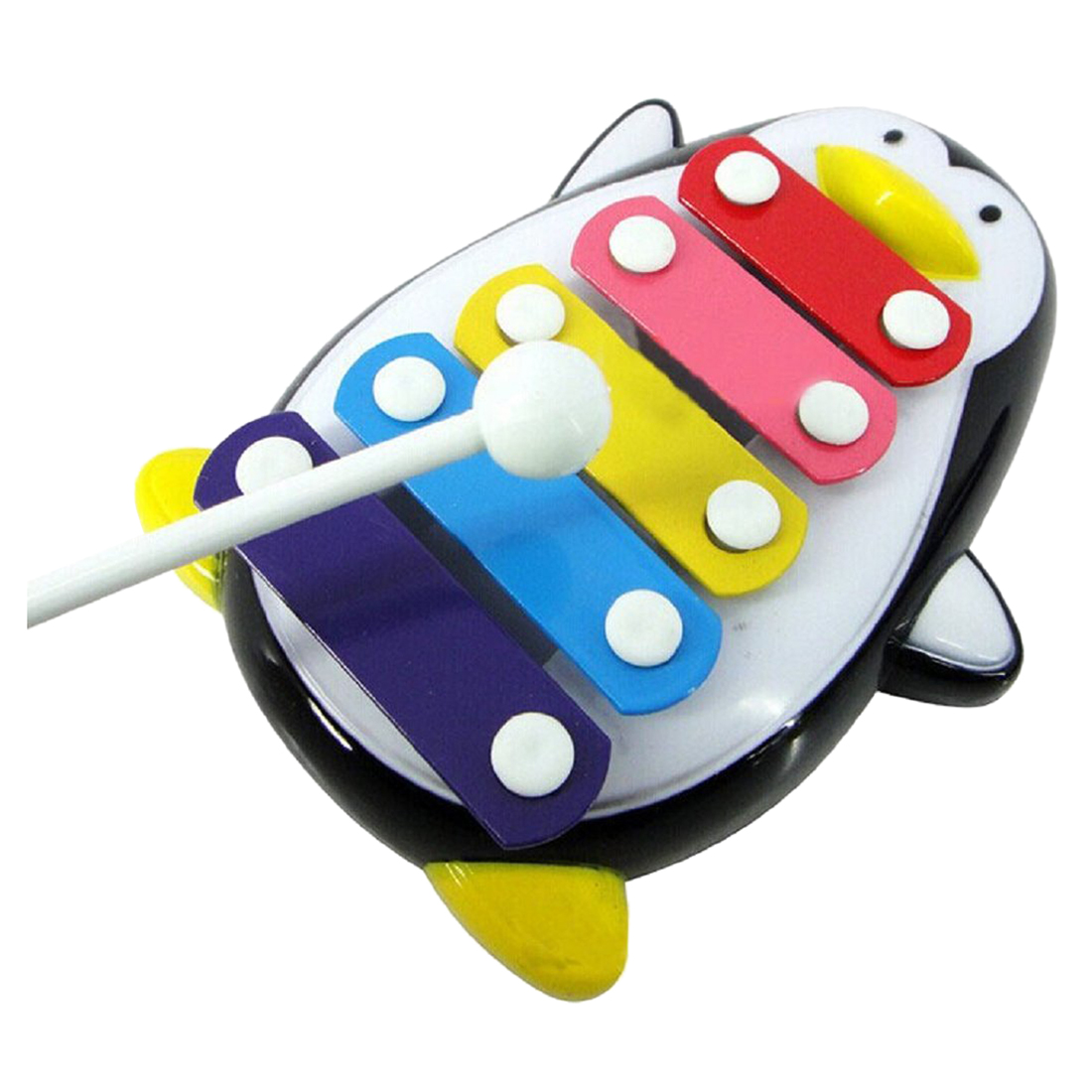 Children Baby 5-Note Xylophone Toy Musical Penguin Black