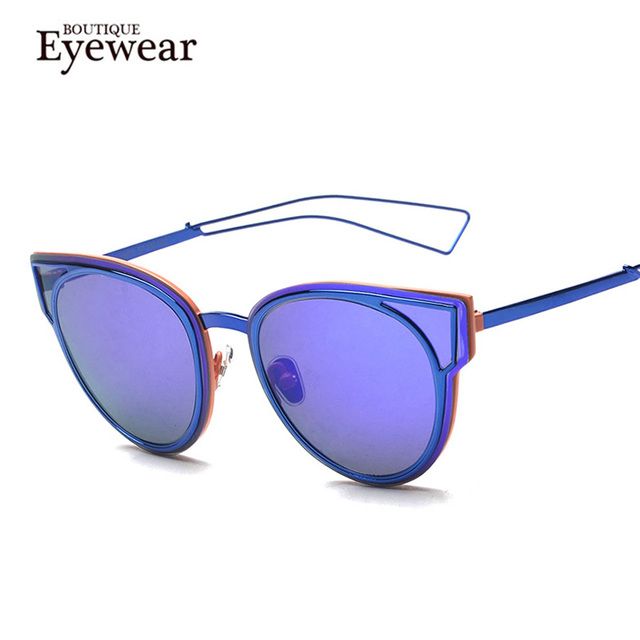 BOUTIQUE Women Vintage Cat Eye Sunglasses Brand Designer Retro Sun Glasses H1813