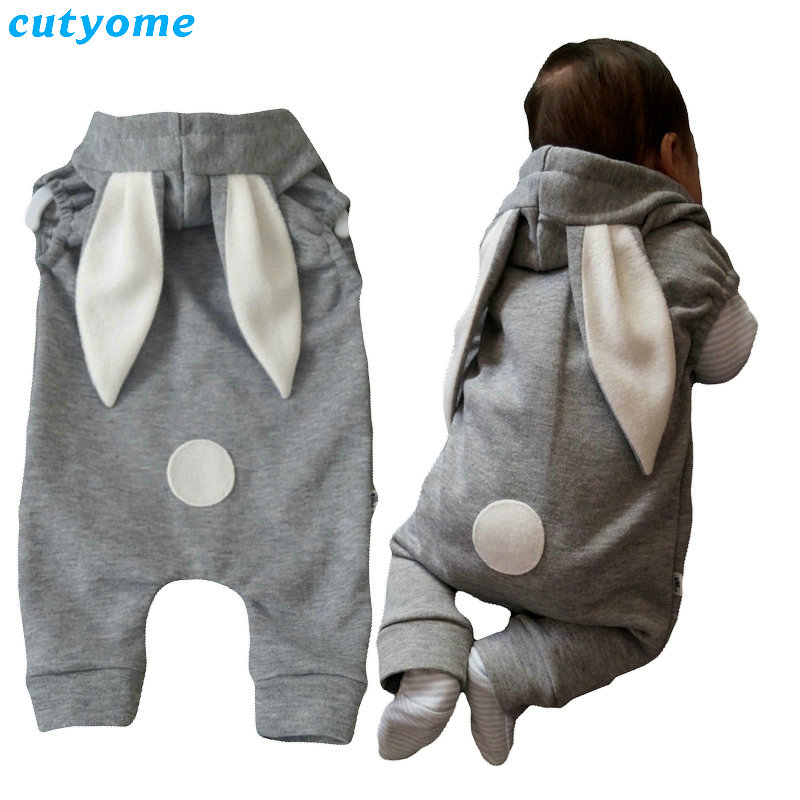 Baby Infant Boys Kids Rompers Clothing Zipper Rabbit Ear Hooded Jumpsuits For Newborn Girls Sleeveless Costumes Autumn Overalls baby clothes baby rompers winter christmas costumes for boys girl zipper rabbit ear newborn overalls jumpsuit children outerwear