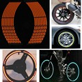 16 Strips Reflective car rim tape sticker Special Orange Motorcycle Car Rim Stripe Wheel Decal Tape for Dressing up the Car
