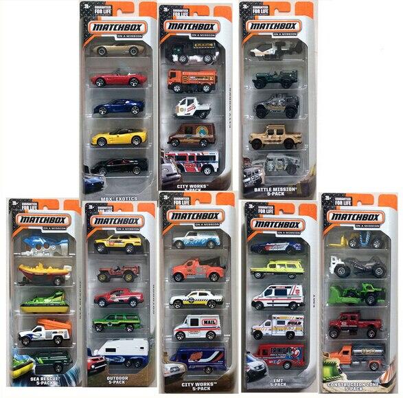 Matchbox Blechspielzeug 5 Stück Spielzeugautos