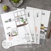 Daily Paper-Envelope Korean Stationery Gift 6-Writting-Paper for 9pcs/Set Life-Series
