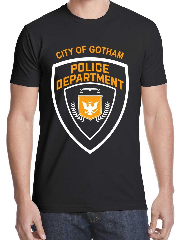 2019 New Hot Sale T-shirt T-Shirt Frete Grátis Batman Dark Knight Filme Cidade do Departamento Da Polícia de Gotham Tees Camisa