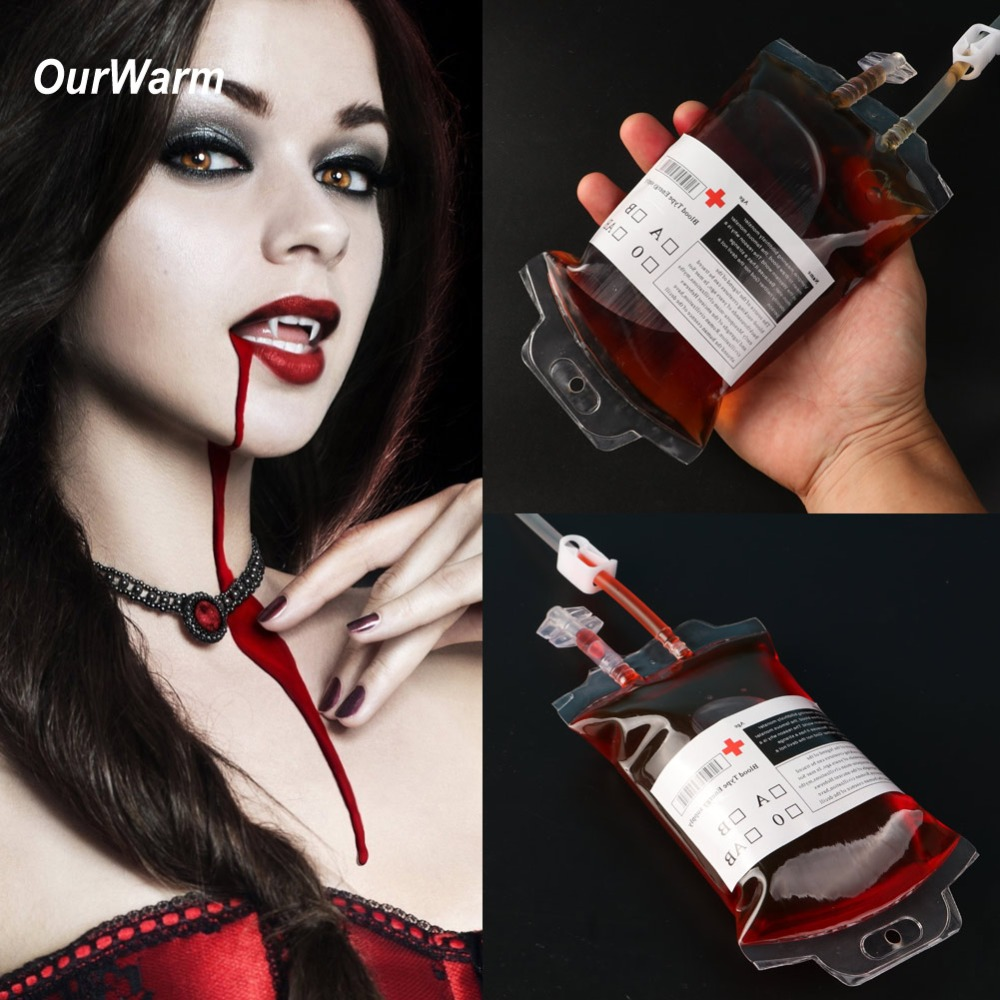 OurWarm-Halloween-Party-Props-Decoration-for-Home-10Pcs-Halloween-Blood-Drink-Bag-400ML-PVC-Blood-Juice