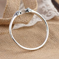 GZ Real 925 Silver Bangle Leopard head Punk Vintage Animal Pure S925 Thai Sterling Silver Oval Bangles for Women Men Jewelry