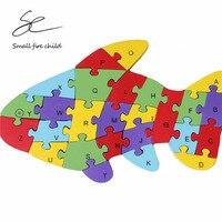 2017 neue aufklärung frühe bildung baby anfangen hände puzzle alphabet digitale erkenntnis holz puzzle fische puzzle geschenk
