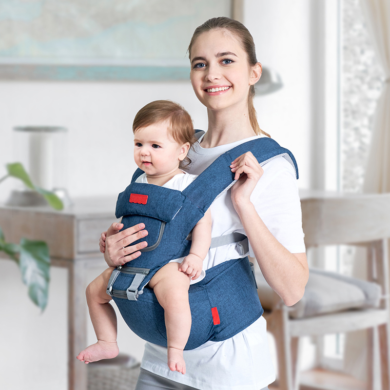 Top Baby Carrier Ergonomic Carrier Backpack Hipseat Sling Carrier Front Facing Ergonomic Kangaroo Baby Wrap Sling for Baby 0-36M (6)