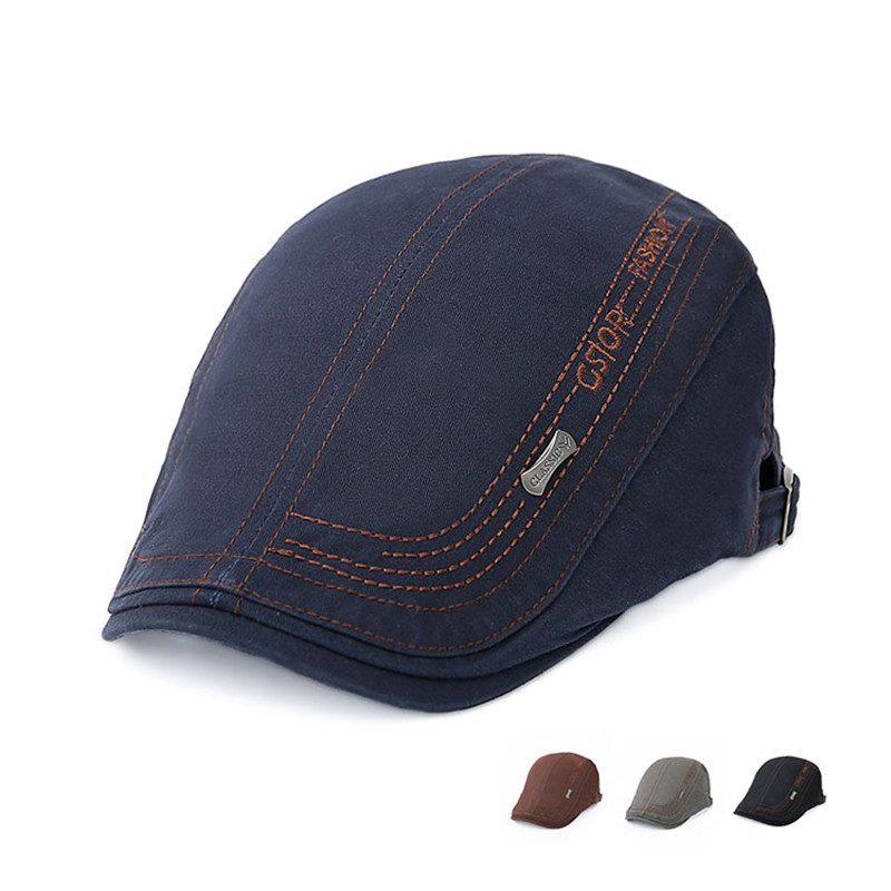 Brand Fashion Mens Retro Casual Cotton Beret Hat Gorras Visors Outdoor Golf Irish Newsboy Driving Cabbie Flat Cap Sunhat