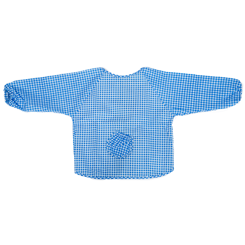 Baby Long Sleeve Apron Overall Food Catcher Bib Waterproof,blue