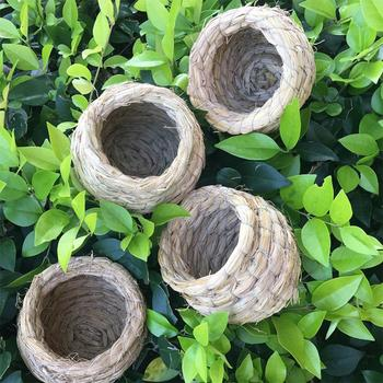 SaiDeng Straw Bird Nest House Animals Bird House Parrot Nest Cages Bird Pigeon Breeding Nest -30 5
