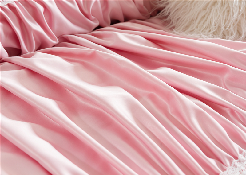 luxury silk cotton hand made fold fashion bedding set lace duvet cover set bed sheet bed linen queen king size 4pcsin bedding sets from home u0026 garden