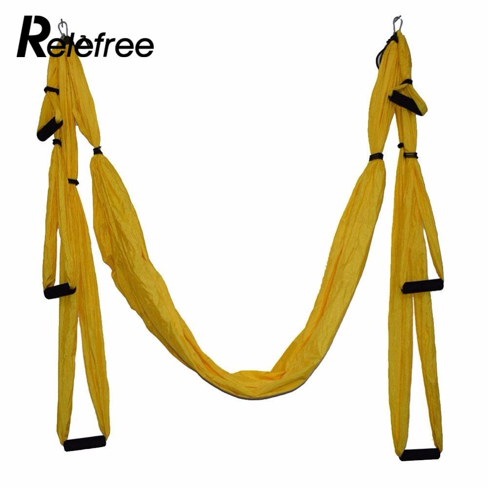 7color Strength Decompression yoga Hammock Inversion Trapeze Anti-Gravity Aerial Traction Yoga Gym strap yoga set leisure decompression hammock inversion trapeze anti gravity aerial traction yoga gym swing hanging daisy chain carabiners