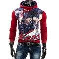 Hoodies Men 2017 Brand Male Long Sleeve Hoodie Printing Sweatshirt Mens Cardigan Moletom Masculino Hoodies Slim Tracksuit XXL