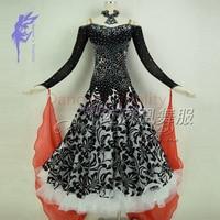 New Ballroom dance costumes sexy senior embroidery stones ballroom dance dress for women ballroom dance dresses S 4XL