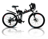 Freeshipping24 and 26 inches electric folding bicycle lithium battery electric vehicle electric mountain bike instead of walking