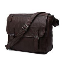 Vintage Genuine Leather Briefcase Men Messenger Bags Men's Bag For Ipad Men Shoulder Bag Cowhide Leather Office Bags #MD-J7022