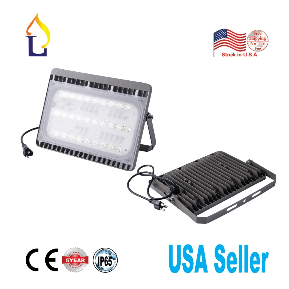 5 Pack Led 100W Outdoor Flood Light 13000LM Daylight White 5700K Waterproof IP65 Garden Yard Lamp Super Brightness Stadium light