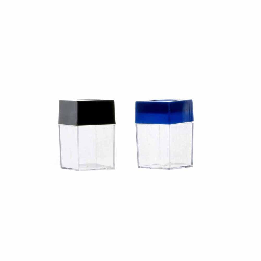 Universal Plastic Magnetic Transparent Square Case Office Supplies Clip Holder Clip Dispenser  Black Blue (Sent At Random)