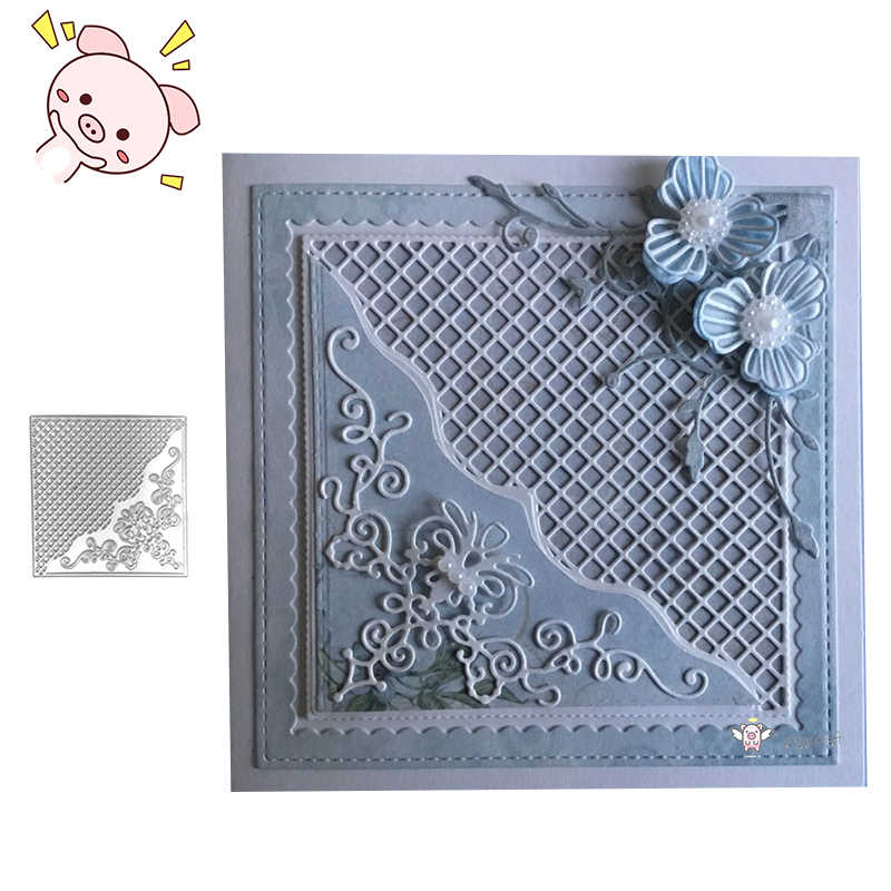 PP Craft metal cutting dies cut die mold New Grid Background Frame Scarpbook  paper craft knife mould blade punch stencils dies