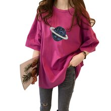 Streetwear o-neck oversized shirt korean short sleeve woman shirts loose plus size t-shirt women 2019 summer cotton