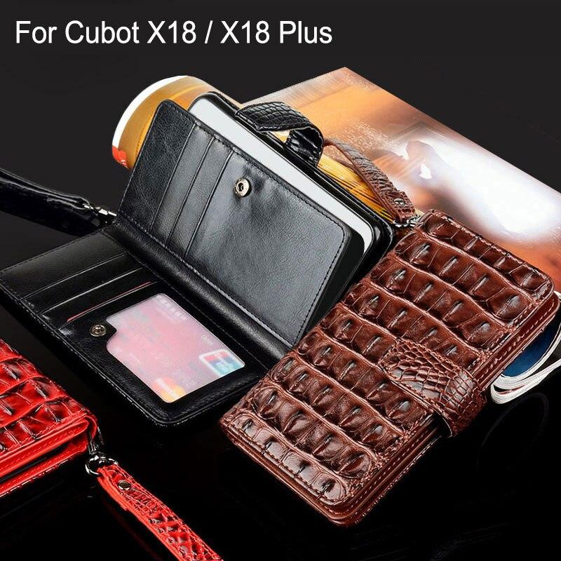 Für Cubot x18 plus fall Luxus Crocodile Snake Leder Flip Geschäfts stil capa Brieftasche telefon Fall für cubot X18 Plus abdecken funda