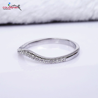 COLORFISH Authentic 100 925 Sterling Silver Twisted Female Rings Thin Match Wedding Band For Women Finger