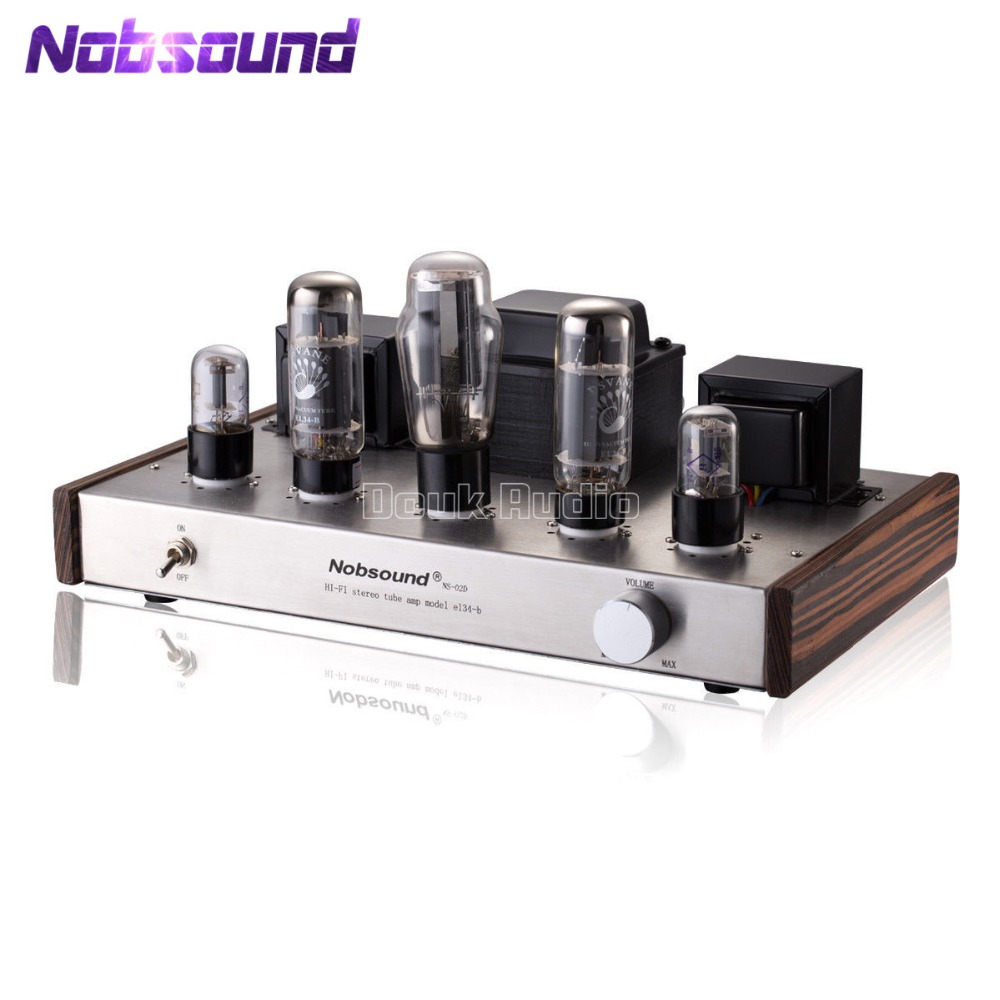 Nobsound 5Z3P Push PSVANE EL34 Vacuum Tube Amplifier 2.0 Channel Single-ended Class A Stereo Audio HI-FI Amp