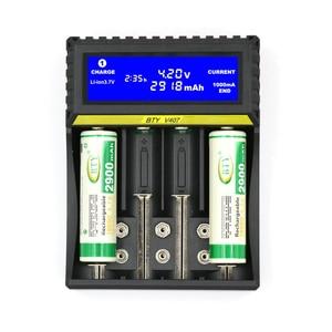 Image 2 - 4 slot de carregador de bateria 3.7V Li ion Vida 3.2V Ni MH Ni CD Inteligente rápido LCD 6F22 9V AAA AA 16340 14500 18650 Carregador de Bateria