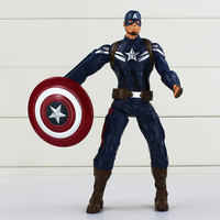 24cm Avengers Captain America Super Hero The Winter Soldier Shield Storm PVC Action Figure Collectible Model Toy Gift For Kids