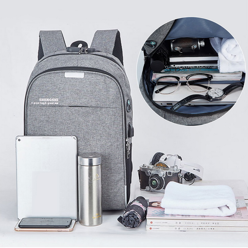 Usb Backpack Mochila Laptop School-Bag Travel 16inch Anti-Theft Laamei Male Men for Leisure