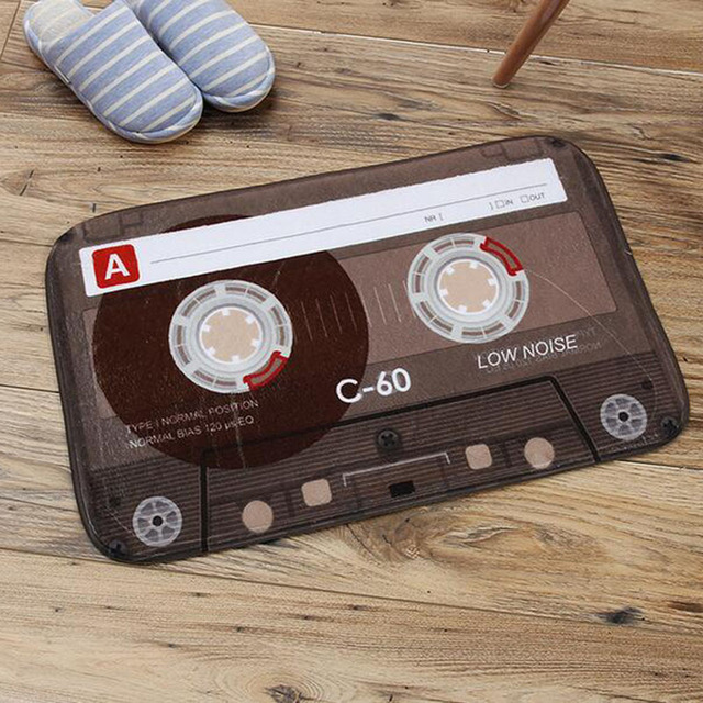 Retro Tape Style Bedroom Carpet